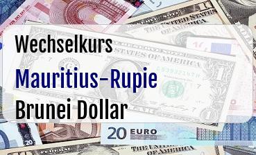 Mauritius-Rupie in Brunei Dollar