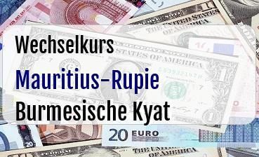 Mauritius-Rupie in Burmesische Kyat