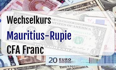 Mauritius-Rupie in CFA Franc
