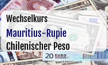 Mauritius-Rupie in Chilenischer Peso