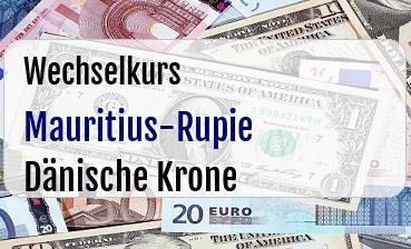 Mauritius-Rupie in Dänische Krone