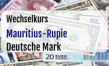 Mauritius-Rupie in Deutsche Mark