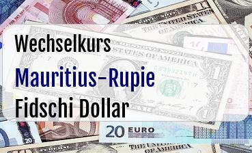 Mauritius-Rupie in Fidschi Dollar