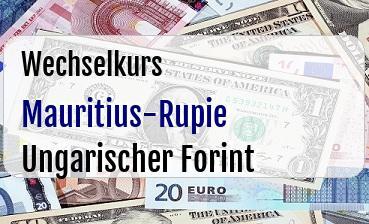 Mauritius-Rupie in Ungarischer Forint