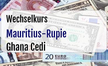 Mauritius-Rupie in Ghana Cedi