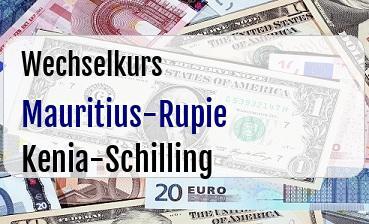 Mauritius-Rupie in Kenia-Schilling