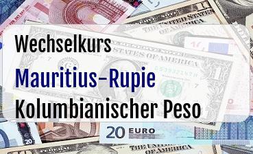 Mauritius-Rupie in Kolumbianischer Peso