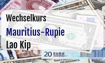 Mauritius-Rupie in Lao Kip