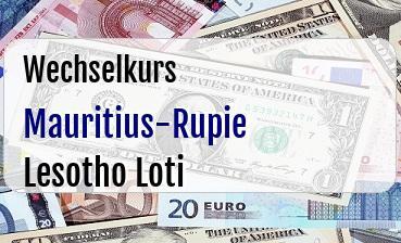 Mauritius-Rupie in Lesotho Loti