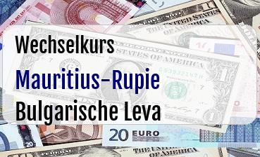 Mauritius-Rupie in Bulgarische Leva