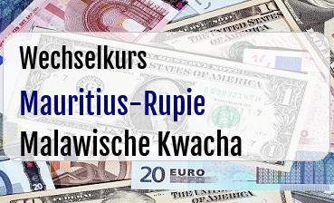 Mauritius-Rupie in Malawische Kwacha