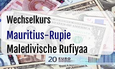 Mauritius-Rupie in Maledivische Rufiyaa