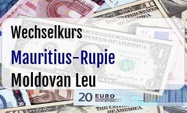 Mauritius-Rupie in Moldovan Leu
