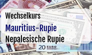 Mauritius-Rupie in Nepalesische Rupie