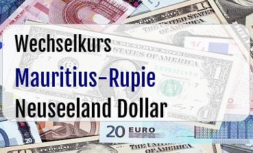 Mauritius-Rupie in Neuseeland Dollar