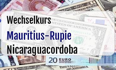 Mauritius-Rupie in Nicaraguacordoba