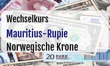 Mauritius-Rupie in Norwegische Krone