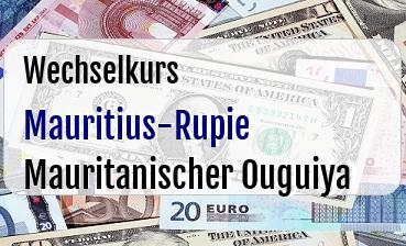 Mauritius-Rupie in Mauritanischer Ouguiya