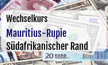 Mauritius-Rupie in Südafrikanischer Rand