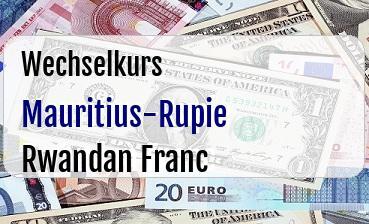 Mauritius-Rupie in Rwandan Franc