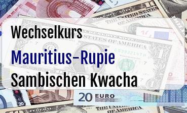Mauritius-Rupie in Sambischen Kwacha