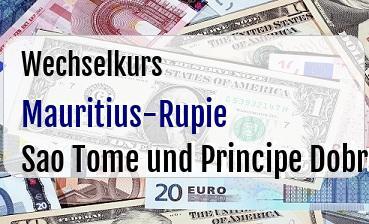 Mauritius-Rupie in Sao Tome und Principe Dobra