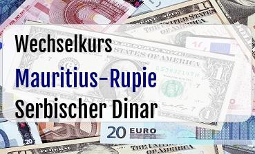 Mauritius-Rupie in Serbischer Dinar