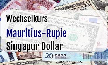 Mauritius-Rupie in Singapur Dollar