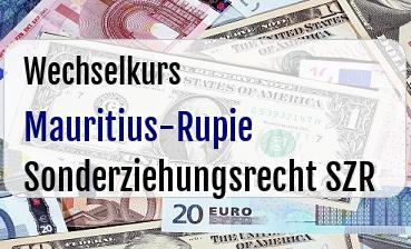 Mauritius-Rupie in Sonderziehungsrecht SZR