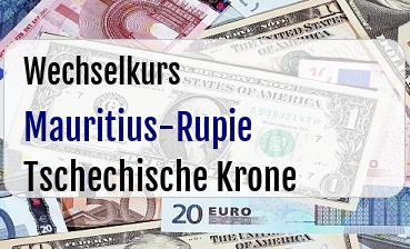 Mauritius-Rupie in Tschechische Krone