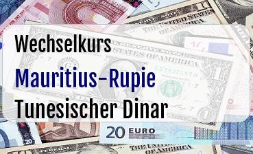 Mauritius-Rupie in Tunesischer Dinar