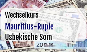 Mauritius-Rupie in Usbekische Som