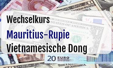 Mauritius-Rupie in Vietnamesische Dong