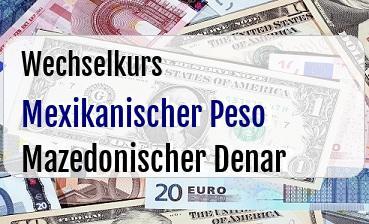 Mexikanischer Peso in Mazedonischer Denar