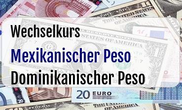 Mexikanischer Peso in Dominikanischer Peso