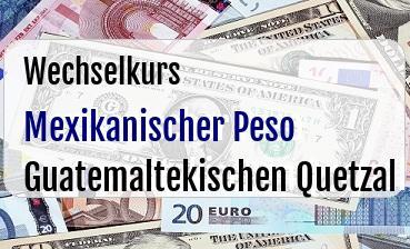 Mexikanischer Peso in Guatemaltekischen Quetzal