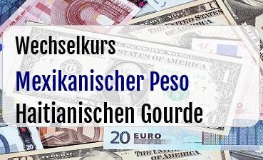 Mexikanischer Peso in Haitianischen Gourde
