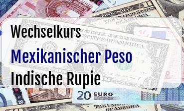 Mexikanischer Peso in Indische Rupie
