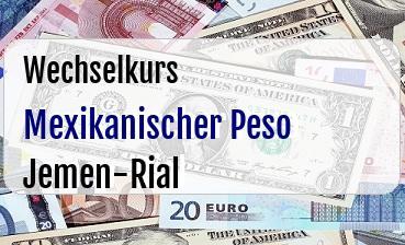 Mexikanischer Peso in Jemen-Rial