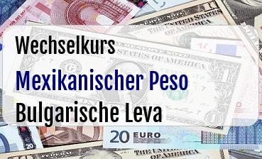 Mexikanischer Peso in Bulgarische Leva