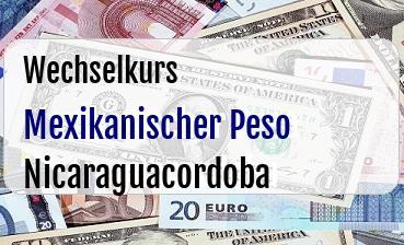 Mexikanischer Peso in Nicaraguacordoba