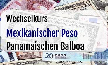 Mexikanischer Peso in Panamaischen Balboa