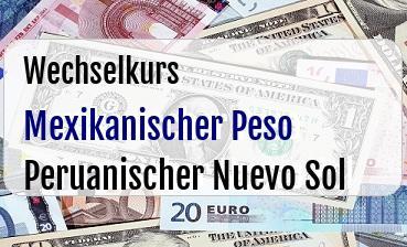 Mexikanischer Peso in Peruanischer Nuevo Sol