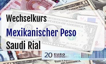 Mexikanischer Peso in Saudi Rial