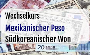 Mexikanischer Peso in Südkoreanischer Won