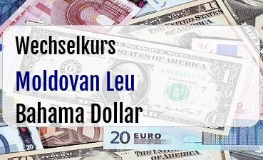 Moldovan Leu in Bahama Dollar