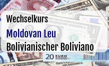 Moldovan Leu in Bolivianischer Boliviano