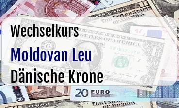 Moldovan Leu in Dänische Krone