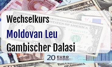 Moldovan Leu in Gambischer Dalasi