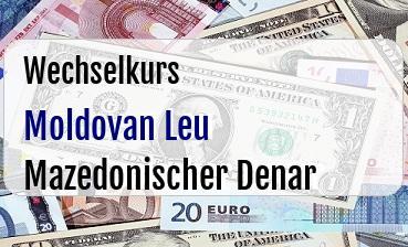 Moldovan Leu in Mazedonischer Denar